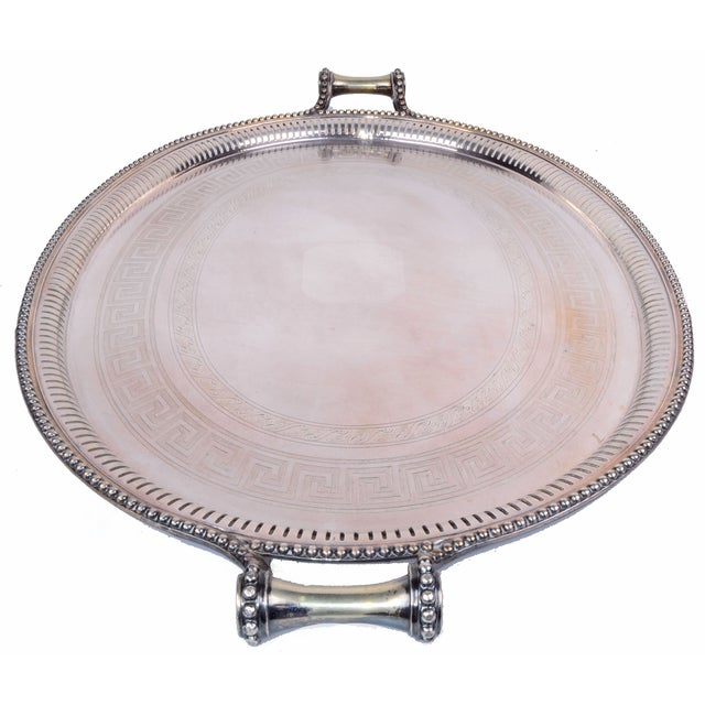 James Dixon & Sons for Sheffield Silver-Plate Tray For Sale