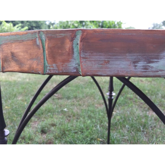 Modern Modern Brutalist Style Copper Top Dining/Entry Table For Sale - Image 3 of 8