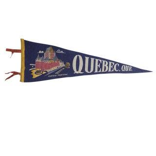 Vintage Quebec, Que. Felt Flag Pennant For Sale