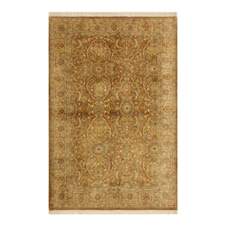 Pak-Persian Season Lt. Brown/Lt. Tan Wool Rug - 4'2 X 6'2 For Sale