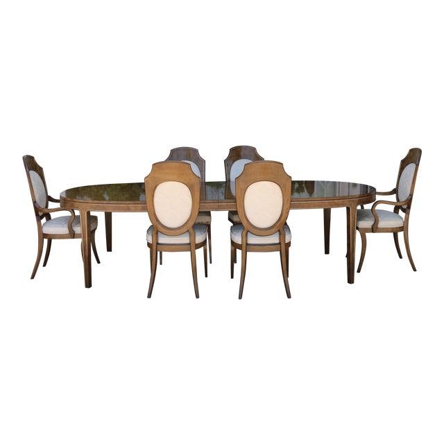 Mastercraft Burlwood Dining Set For Sale