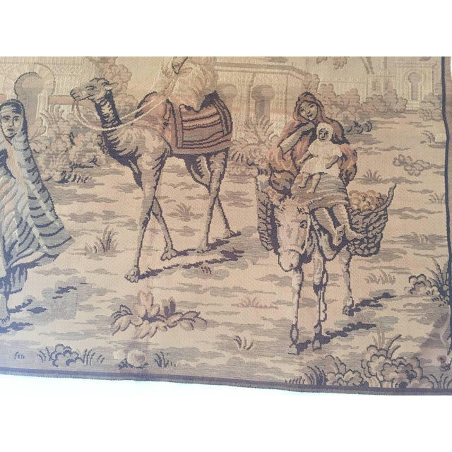 Tapestry With an 19th Century Orientalist Scene and Moorish Architecture For Sale - Image 4 of 10
