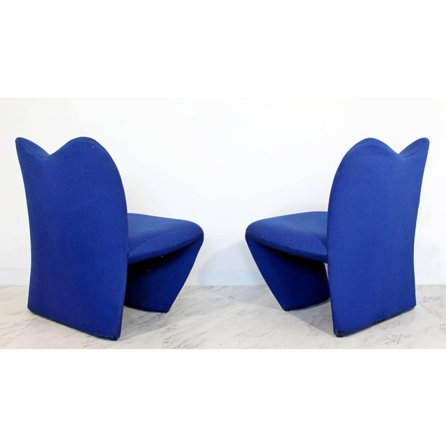 1970s Mid-Century Modern Pair of Sculpted Accent Chairs Paulin Panton Style Italian For Sale - Image 5 of 9