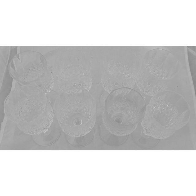 Vintage French Crystal Wine Glasses - Set of 8 - Image 3 of 6