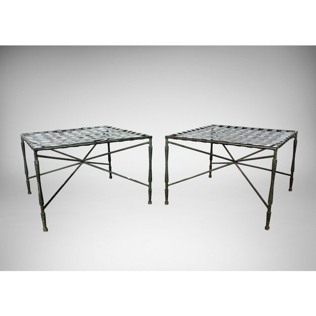 John Salterini Architectural Iron Benches - A Pair - Image 2 of 5