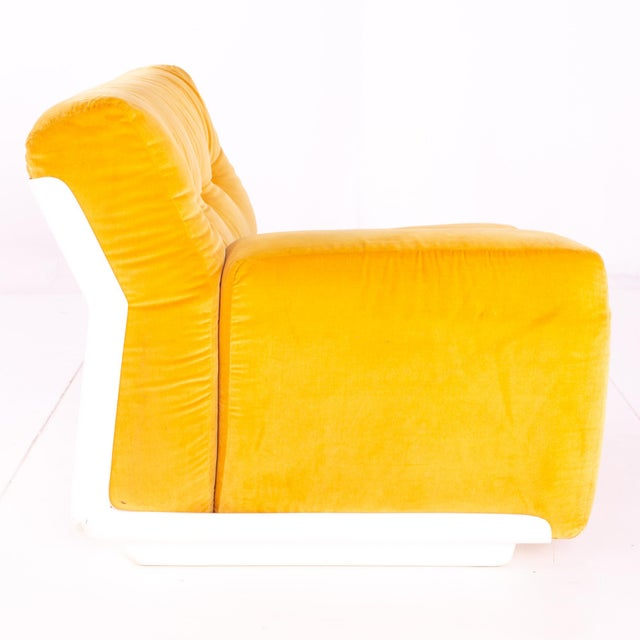 Jack Cartwright for Founders Mid Century Sectional Fiberglass Sofa For Sale - Image 9 of 13