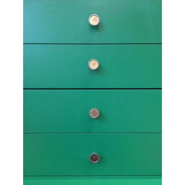 Contemporary Green Mid-Century Modern Dresser For Sale - Image 3 of 9