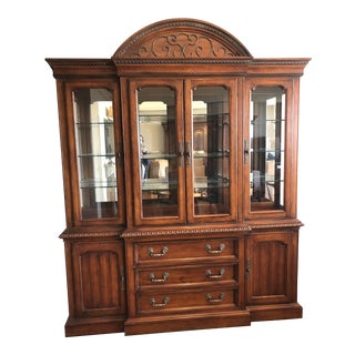 Traditional Hickory White Legends China Cabinet For Sale