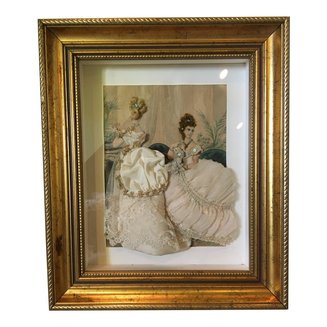 19th Century French Fashion Diorama For Sale