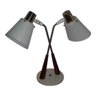 Gerald Thurston Lightolier Cone Double Desk Table Lamp Last Call For Sale