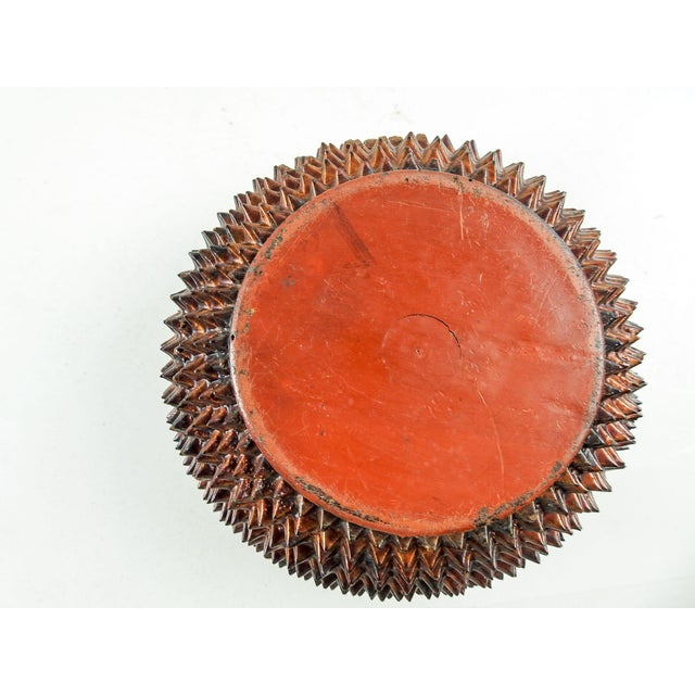 1970s Durian Shaped Lacquer Box For Sale - Image 5 of 6