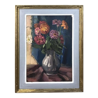 Antique Framed Oil Painting on Canvas by Zollepx For Sale