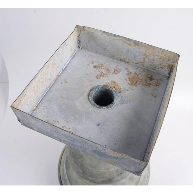 Late 19th Century Antique Zinc Architectural Baluster Urn For Sale - Image 5 of 6