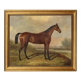 Image of Folk Art Reproduction Oil Painting on Canvas in Solid Composite Frame by William Barraud For Sale