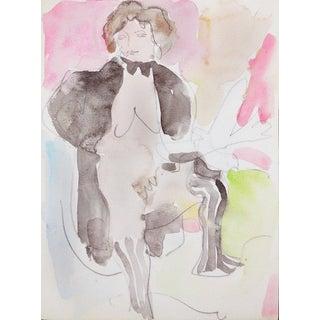 'Black Tie and Tails' by Victor Di Gesu, Mid-Century California Post-Impressionist, Academie De La Grande Chaumiere, Paris, Louvre For Sale