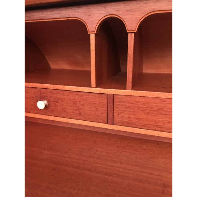 20th Century Danish Modern Rosewood Cylinder Desk For Sale - Image 11 of 13