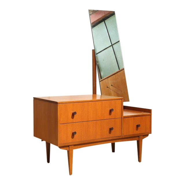 Small Mid Century Mirrored Dresser For Sale