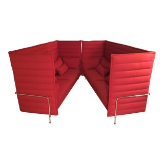 Vitra Alcove Highback 3-Seater Sofas - A Pair