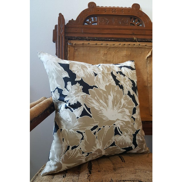 Vintage Floral Throw Pillows - A Pair - Image 4 of 6