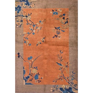 "Chinese Art Deco Antique Rug- 6'0"" X 8'8"" For Sale"
