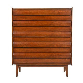 Lane First Edition Mid Century Modern Walnut Highboy Dresser