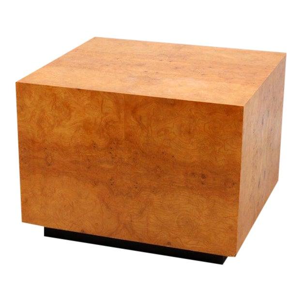 Mid-Century Olive Burl Pedestal Table - Image 1 of 7