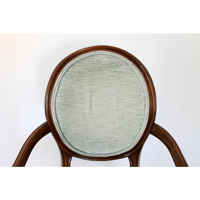Wood Oval-Back Fauteuil For Sale - Image 7 of 12