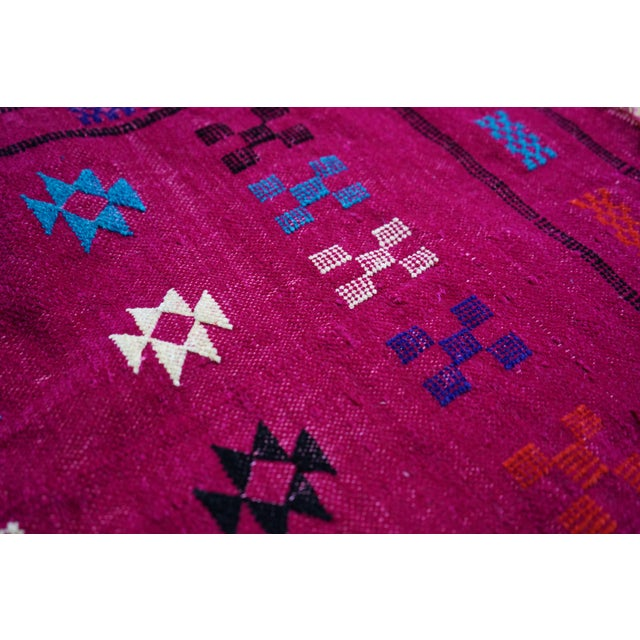 Moroccan Artist Berber Moroccan Rug - 1′10″ × 3′3″ For Sale - Image 4 of 4