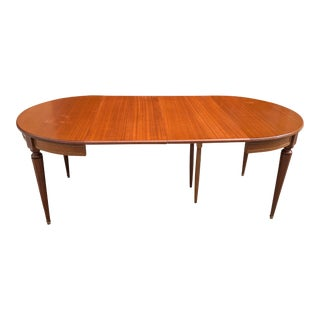 1910s Antique French Louis XVI Antique Mahogany Dining Table For Sale
