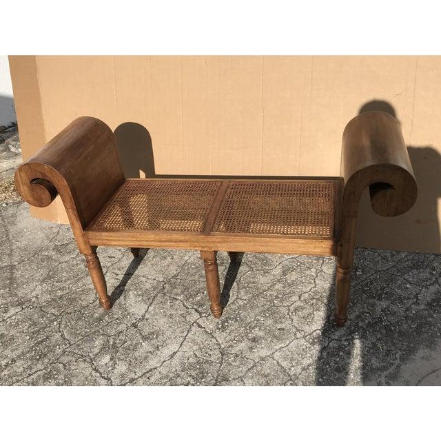 Vintage Carved Wood Window Bench - Image 4 of 5
