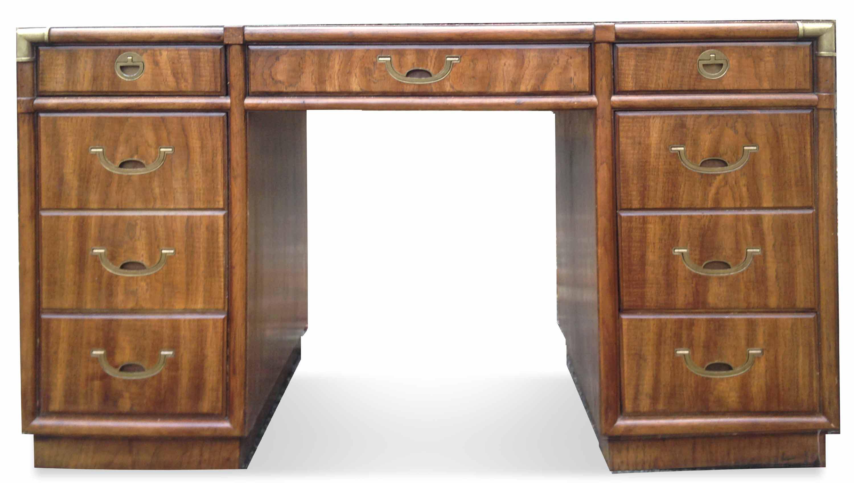 Drexel Accolade Campaign Partner Desk Chairish Rh Com Large Corner Desks For Home Office