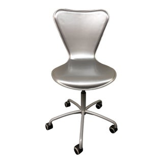 Metallic Leather Office Chair by Cattelan Italia For Sale