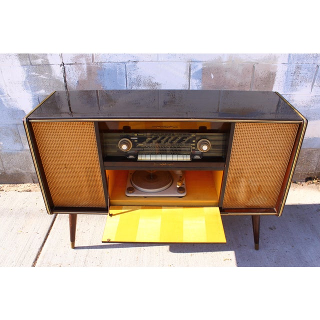 Mid Century German Emud Stereo Console For Sale - Image 9 of 11