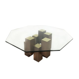 Paul Evans Style Mid Century Modern Skyscraper Coffee Table For Sale