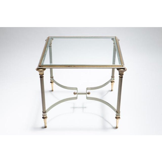 Maison Jansen Steel & Brass Side Tables- A Pair - Image 6 of 8