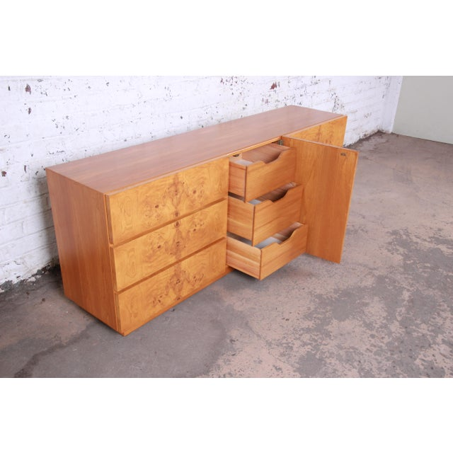 Wood Burl Wood Credenza by Lane Furniture For Sale - Image 7 of 13