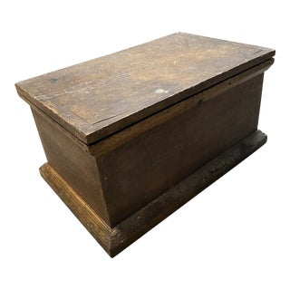 19th Century Box With Naturally Crazed Finish For Sale