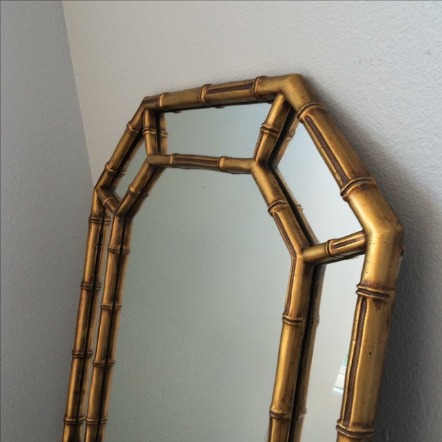 Vintage Gold Bamboo Mirror - Image 5 of 10