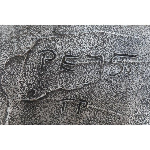 Aluminum Paul Evans, Sculpted Bronze Disc Bar in Aluminum Argente Finish, Usa, 1975 For Sale - Image 7 of 8