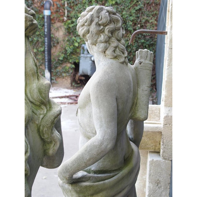 Late 20th Century Pair of 20th Century French Statues Representing Apollo and Diana For Sale - Image 5 of 13