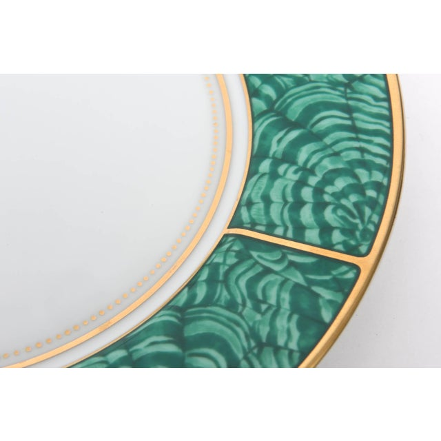 Ceramic Georges Briard Imperial Malachite Porcelain China Service - Set of 16 For Sale - Image 7 of 10