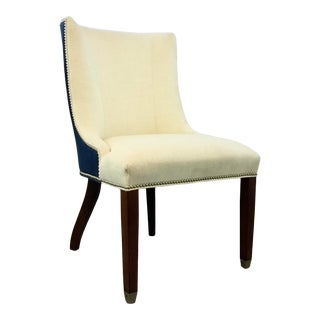 Lillian August Transitional Ivory and Blue Thayer Dining Chair/Desk Chair U101-D1 For Sale