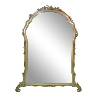 Italian Rococo Style Painted Mirror For Sale