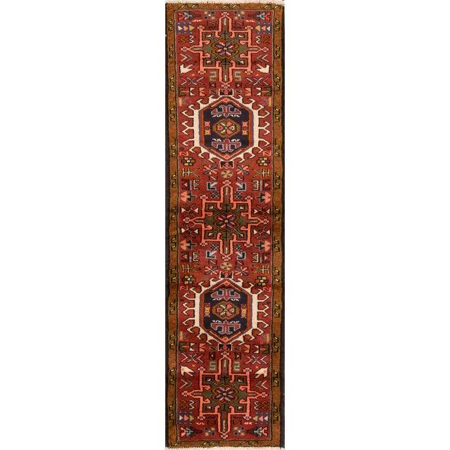 "Apadana - Vintage Persian Heriz Rug, 1'7"" x 6'3"" For Sale - Image 5 of 5"