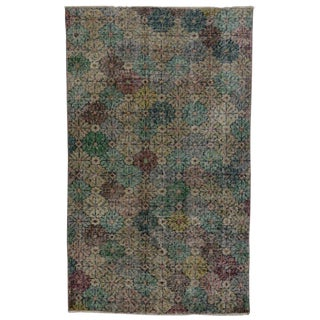 Zeki Muren Distressed Vintage Turkish Sivas Rug - 3′1″ × 5′1″ For Sale
