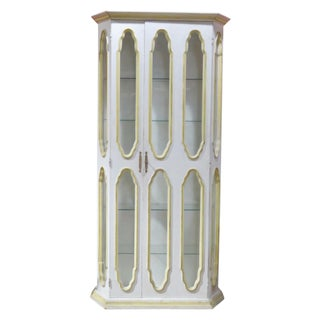 Allan Keith Distressed Painted Display Cabinet For Sale
