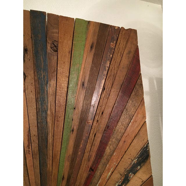 Solid Wood Sunburst Wall Sculpture For Sale - Image 4 of 9