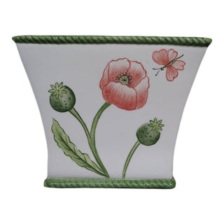Chelsea House Porcelain Floral Planter For Sale