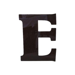 "34"" Jumbo Chocolate Brown Plexiglass Marquee Letter E For Sale"