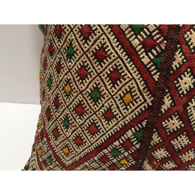 Textile Moroccan Berber Pillow With Tribal African Designs For Sale - Image 7 of 10